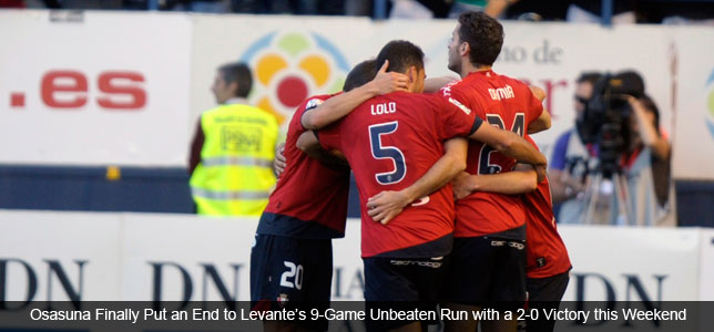 Troubles on Travels End Streaks for Levante, Dortmund & Lille