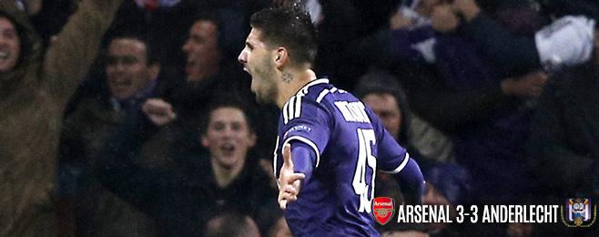 Match Report: Spirited Anderlecht Stun Mentally Weak Arsenal