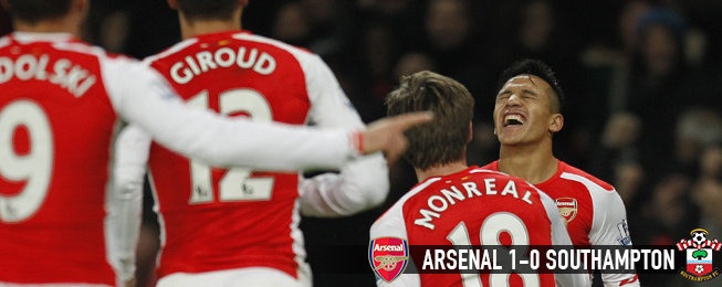 Match Report: Sánchez the Saviour Again as Arsenal Outgun Resolute Saints