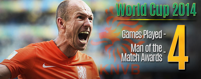 Player Focus: Rampaging Robben Leading the Dutch Charge in Brazil