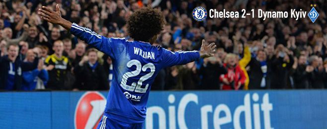 Match Report: Willian Downs Dynamo in Another Impressive Display