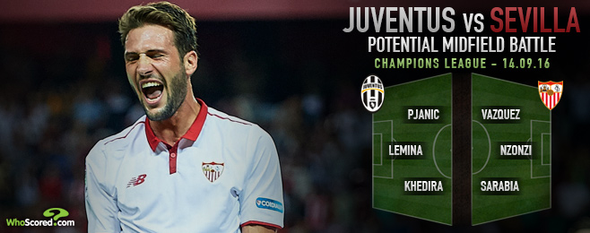 Midfield battle central to mouth-watering Juve-Sevilla clash