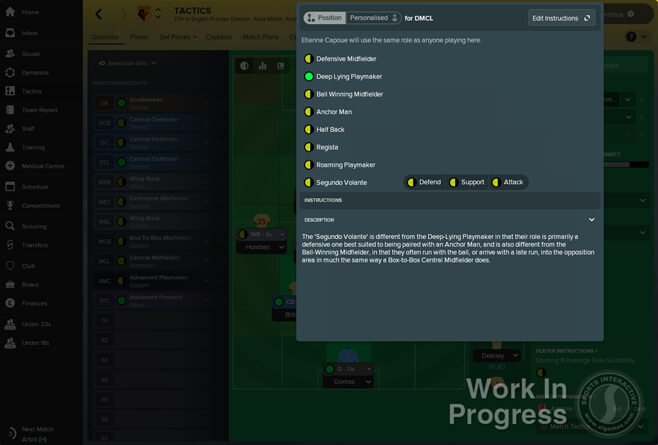 Football Manager 2018: New player roles explained