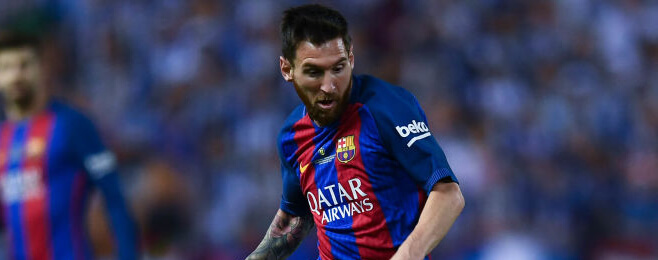 European Team of the Season: FWR - Lionel Messi (Barcelona)