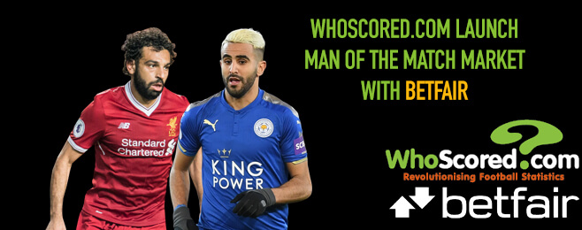 WhoScored.com launches Man of the Market with second bookmaker