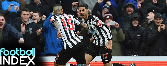 Newcastle's form spikes increase in key duo's' Football INDEX share price
