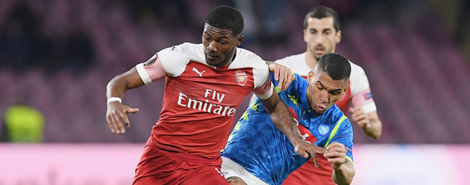 Four from Arsenal in Europa League quarter-final XI after nullifying Napoli